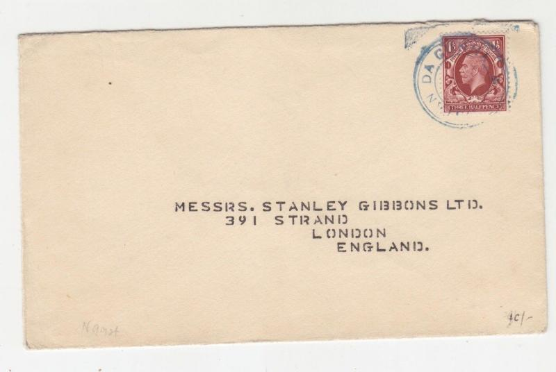 TRISTAN da CUNHA, 1935 cachet type V, GB KGV Photo. 1 1/2d. to Stanley Gibbons.