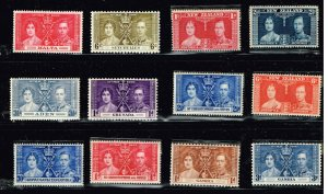 UK STAMP 1937 Coronation ISSUE COLLECTION LOT MNH/OG STAMP COLLECTION LOT #S1