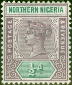 Northern Nigeria 1900 1/2d Dull Mauve & Green SG1 Fine Very Lightly Mtd Mint