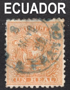 Ecuador Scott 10  F+  used with a beautiful SON cds.