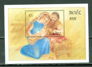ZAIRE 1981 CHRISTMAS #1042 SOUV.  SHEET  MNH...$5.50