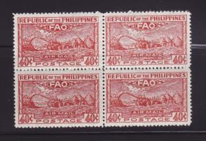 Philippines C67 Block of 4 Set MNH FAO (A)