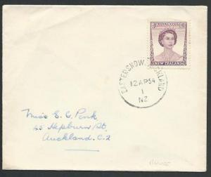 NEW ZEALAND 1954 cover EASTER SHOW AUCKLAND skeleton relief cds............55909