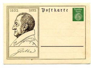 Germany  unused Goethe  Postcard VF   - Lakeshore Philatelics