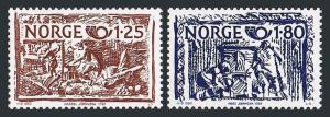 Norway 766-767, MNH. Nordic cooperation.Vulcan, Hercules, by Heinrich Bech, 1980