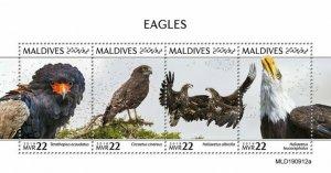 Stamps MALDIVES / 2020 - Eagles.