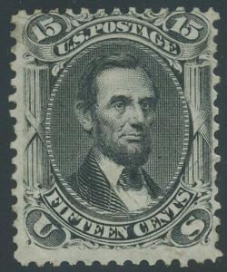 #77  15c 1861 F-VF PART OG LH CV $4,750 WL7719