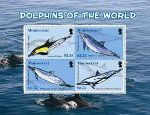 Montserrat - Dolphins -  Sheet of 4 Stamps MOT0803