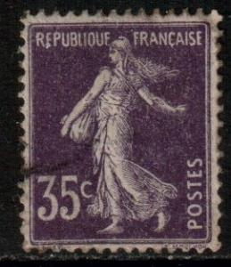 France Scott 175 -  YT 142, 1907 Sower/Semeuse 35c, used
