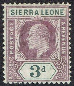 SIERRA LEONE 1904 KEVII 3D WMK MULTI CROWN CA