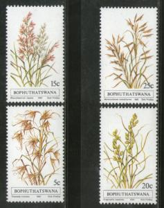 Bophuthatswana 1981 Grasses Flower Trees Plants Flora Sc 80-83 MNH # 3252