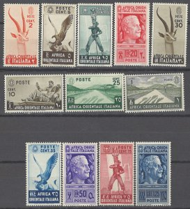 COLLECTION LOT # 2068 ITALIAN EAST AFRICA 12 STAMPS 1938 CV+$31