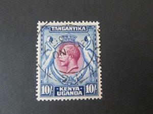Kenya Uganda Tanganyika 1935 Sc 58 KGVI Bird FU