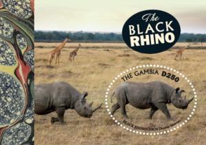 Gambia 2019 Black Rhino (ss/1v)