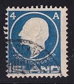 Iceland    #88  used   1911  Jon Sigurdsson  4a