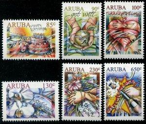 HERRICKSTAMP NEW ISSUES ARUBA Sc.# 593-98 Greetings 2018