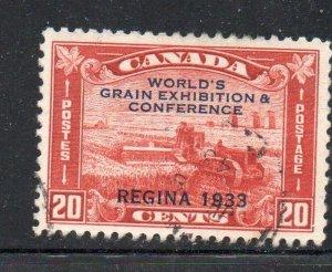 Canada Sc 203 1933 Regina Grain Exhibition stamp used