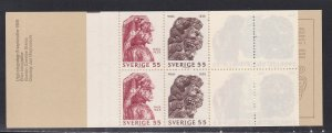 Sweden # 830a, Warship Wasa, Complete Booklet, NH, 1/2 Cat.