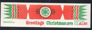 Great Britain Sc B709 MH70c 1979 Christmas stamp booklet  mint NH