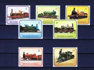 Equatorial Guinea 1978 Trains Set Perf (7) MNH VF Mi.# 1361/1367