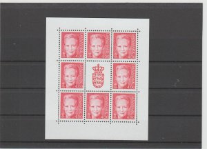Denmark  Scott#  1115c  MNH  Sheet  (2000 Queen Margrethe)