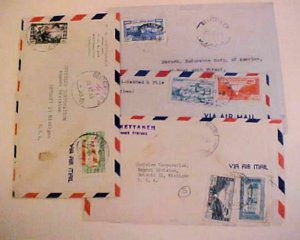 LEBANON  TAX 4 DIFF. on 4 COVERS TO USA