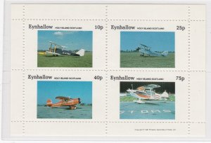 Eynhallow - Scotland, Airplanes Sheet of Four Different, NH
