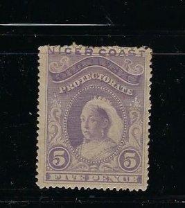 NIGER SCOTT #41 1893 VICTORIA UNWMK- 5P (GRAY BLACK) ) MINT HINGED
