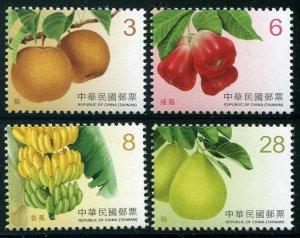 HERRICKSTAMP NEW ISSUES CHINA-TAIWAN Sc.# 4383-86 Fruits 2017 Part 2