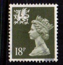 Wales - #WMMH33 Machin Queen Elizabeth II - Used