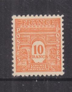 FRANCE, 1944 Arc de Triumph 10f. Orange, lhm.