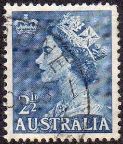 Australia 256A - Used - 2 1/2p Elizabeth II (1954) (cv $0.30)