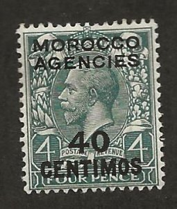 GREAT BRITAIN OFFICES - MOROCCO SC# 59  F/MOG 1917