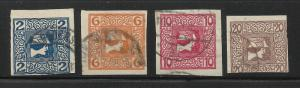 Austria Newspaper Stamps 1908 Scott# P15-P18 Used