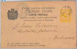 65976 - MONTENEGRO  - POSTAL STATIONERY CARD to DUBROVNIK 1894  P8