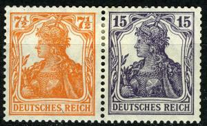 Germania Se-Tenant,  Mi. W 11 ba, MLH
