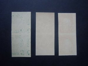 #575 #576 #577 Imperforated Vertical Pairs MNH OG VF #7 CV $36