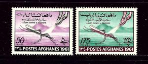 Afghanistan 518-19 MNH 1961 Anti-Malaria Campaign