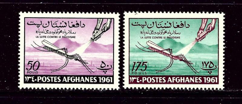 Afghanistan 518-19 MNH 1961 Anti-Malaria Campaign