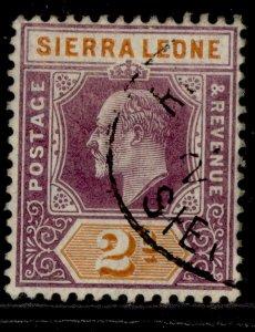 SIERRA LEONE EDVII SG89, 2d dull purple & brown-orange, FINE USED.
