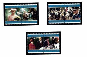 Falkland Is 680a-84a MNH 1997 QEII Golden Wedding Anniversary