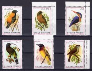 ST.Thomas & Prince Islands 1979 Sc#541/546 BIRDS Set (6) MNH