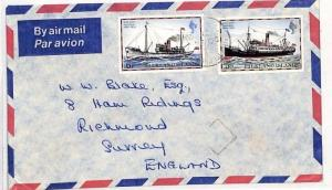 SS139 1970s FALKLANDS to GB Surrey Richmond Commercial Airmail