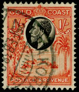 GOLD COAST SG110, 1s black & red-orange, FINE USED.