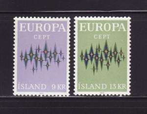 Iceland 439-440 Set MH Europa (A)