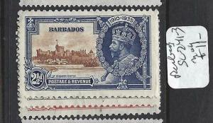BARBADOS   (P2903B)     KGV SILVER JUBILEE  SG  241-3    MOG