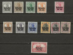German Occ. Lithuania 1N1-12 Mint Hinged (1N6= M NO Gum; N7=Gum thin) (414129)
