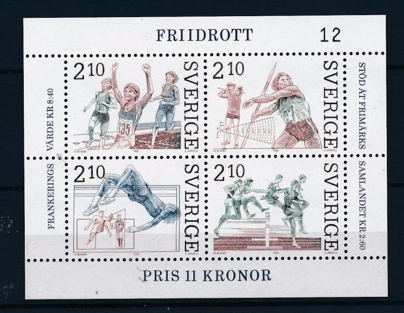 [44757] Sweden 1986 Sports Athletics MNH Sheet