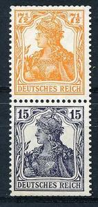 Germany #99a and 101a se-tenant Mint NH  EUR 280