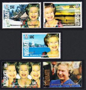 Kiribati 40th Anniversary of Queen Elizabeth II's Accession 5v SG#377-381